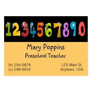 Cartão de visita pré-escolar do professor