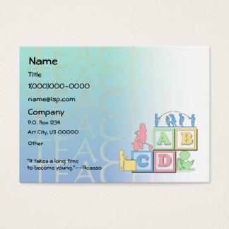 Cartão de visita pré-escolar do professor da