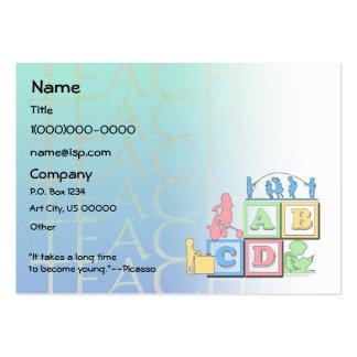 Cartão de visita pré-escolar do professor da pueri