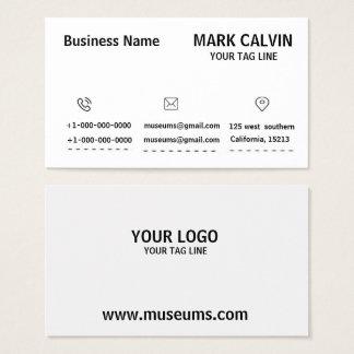 Cartão de visita preto & branco