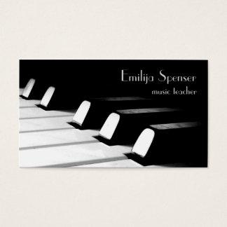 Cartão de visita preto & branco de Minimalistic do