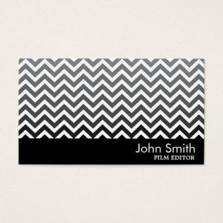 Cartão de visita preto & branco do editor do filme