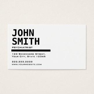 Cartão de visita preto & branco do psiquiatra