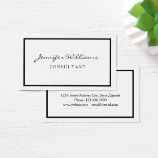 Cartão de visita preto & branco minimalista
