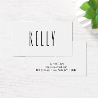 Cartão de visita preto & branco minimalista na
