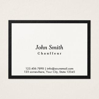 Cartão de visita preto carnudo do Chauffeur da