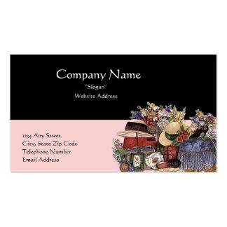 Cartão de visita preto & cor-de-rosa do design da