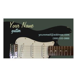 Cartão de visita preto da guitarra elétrica
