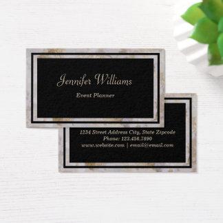 Cartão de visita preto & de mármore