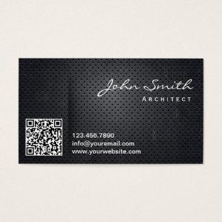 Cartão de visita preto do arquiteto do código do