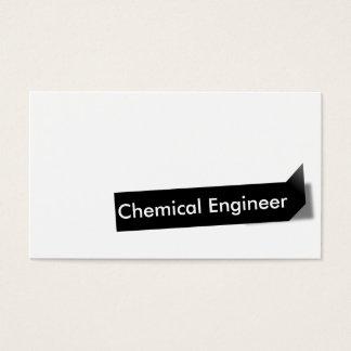 Cartão de visita preto do engenheiro químico da