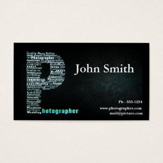 Cartão de visita preto do fotógrafo
