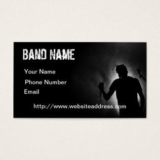 Cartão de visita preto do músico
