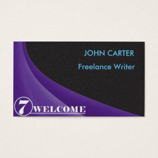 cartão de visita preto do ruído 7