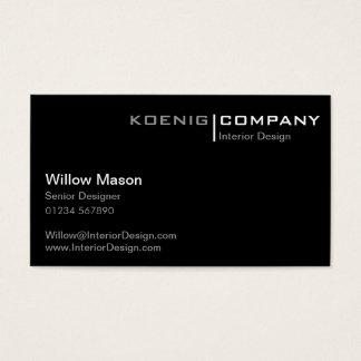 Cartão de visita preto e branco de Minimalistic