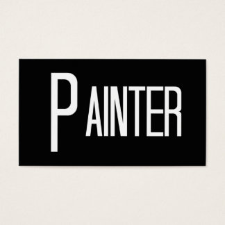 Cartão de visita preto e branco do pintor