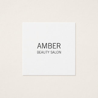 Cartão de visita preto e branco moderno do salão