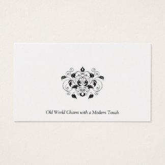 Cartão de visita preto e de prata da platina