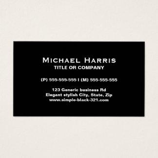 Cartão de visita preto elegante simples moderno