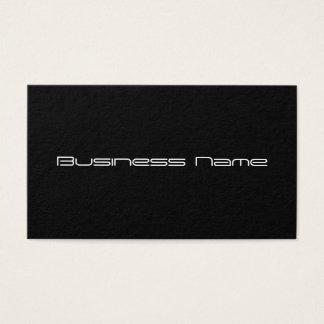 Cartão de visita preto liso