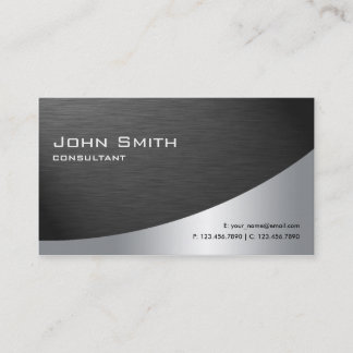 Professional Metal Elegant Modern Plain Black