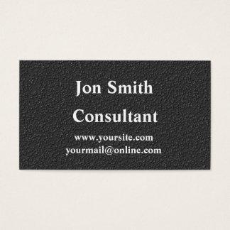 Cartão de visita preto matte profissional
