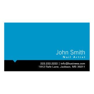 Cartão de visita preto moderno da arte do prego do