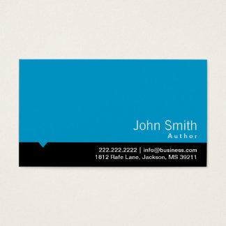 Cartão de visita preto moderno do autor do bar