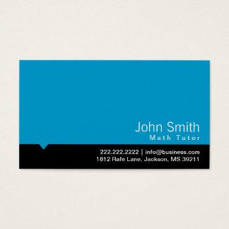 Cartão de visita preto moderno do tutor da