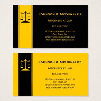 Cartão de visita preto Ocher dos escritórios de
