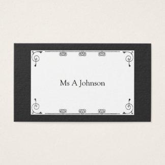 Cartão de visita preto profissional