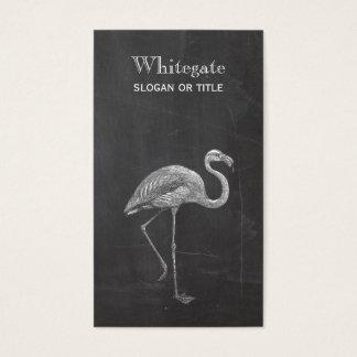 Cartão de visita preto rústico do flamingo