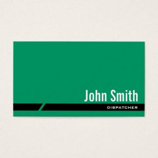 Cartão de visita preto verde liso do expedidor da
