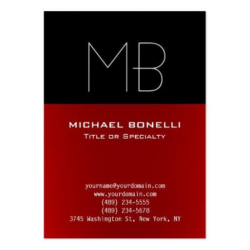 Cartão de visita preto vermelho moderno carnudo na