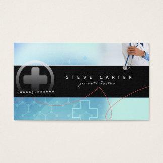 Cartão de visita privado do doutor Clínica Médico