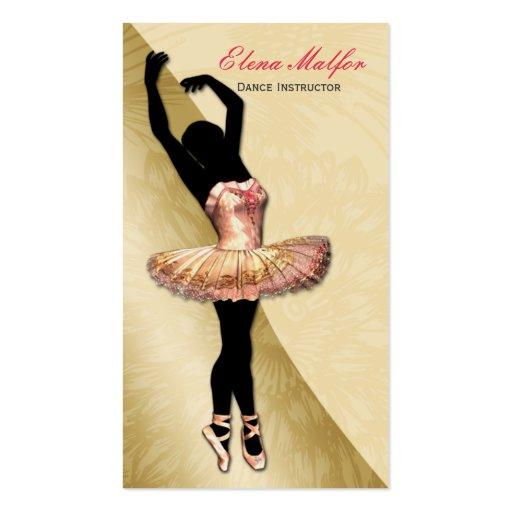 cartão de visita pródigo da bailarina do ouro