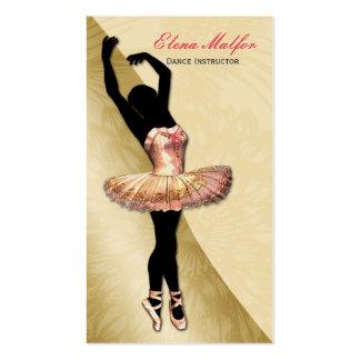 cartão de visita pródigo da bailarina do ouro eleg