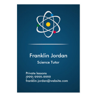 Cartão de visita professor particular azul