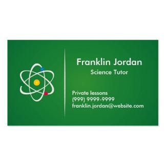 Cartão de visita professor particular verde