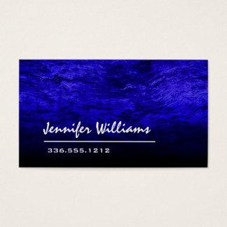 Cartão de visita profissional azul liso