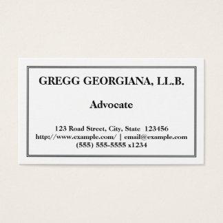 Cartão de visita profissional & básico do advogado