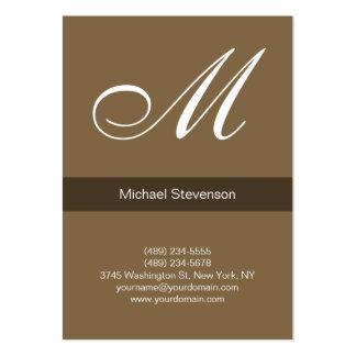 Cartão de visita profissional carnudo do marrom do