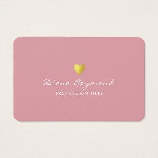 cartão de visita profissional cor-de-rosa com