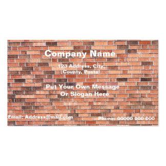 Cartão de visita profissional da parede de tijolo