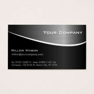 Cartão de visita profissional de aço inoxidável