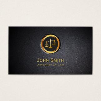 Cartão de visita profissional do advogado do preto
