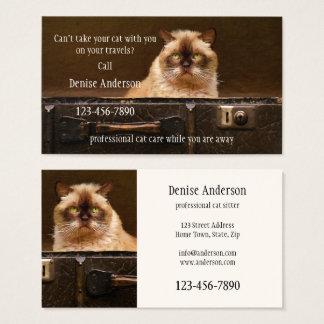 Cartão de visita profissional do baby-sitter do
