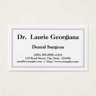 Cartão de visita profissional do cirurgião dental