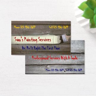 Cartão de visita profissional do contratante do