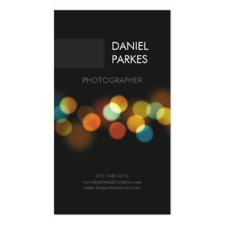 Cartão de visita profissional do fotógrafo